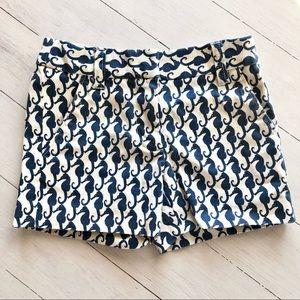 CREWCUTS Navy & White Seahorse Shorts